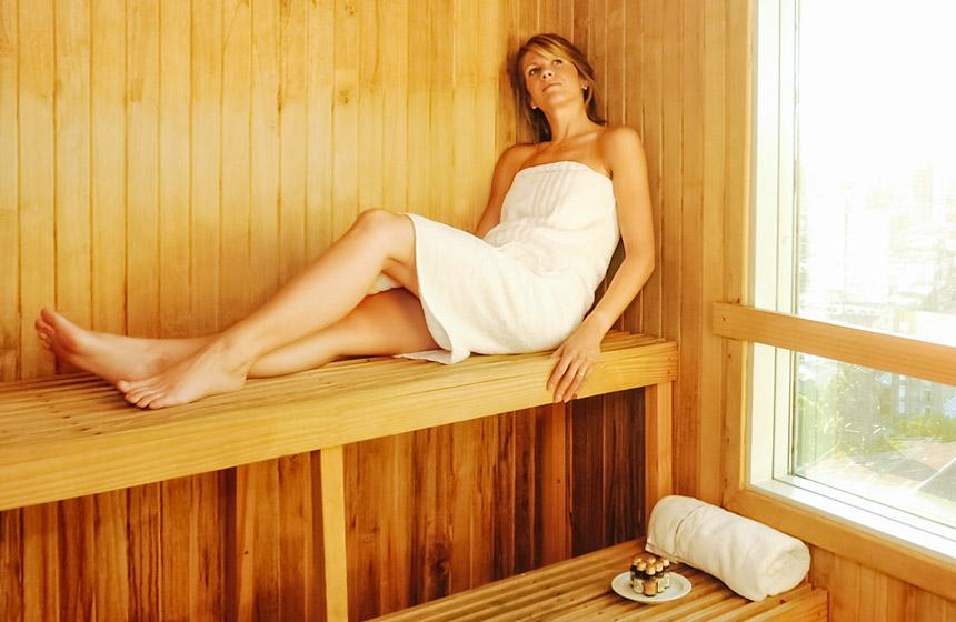 Sauna panorámico en santa fe